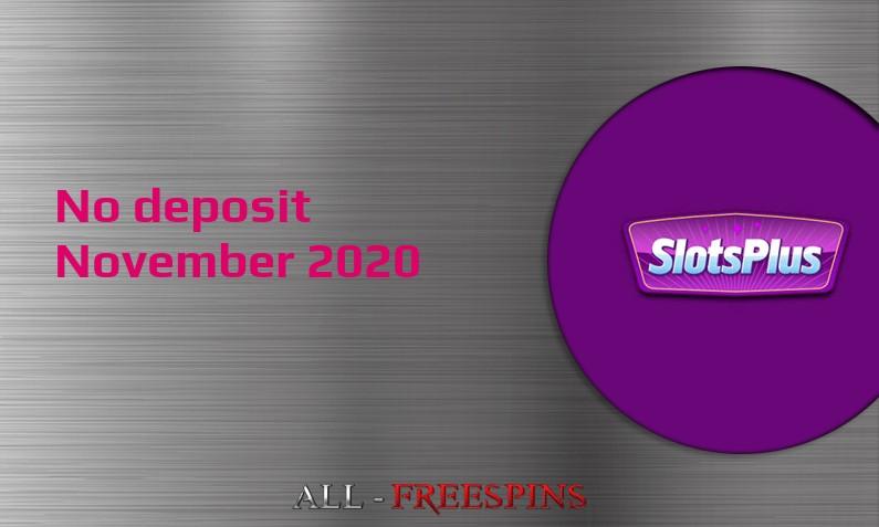 Latest no deposit bonus from SlotsPlus- 5th of November 2020